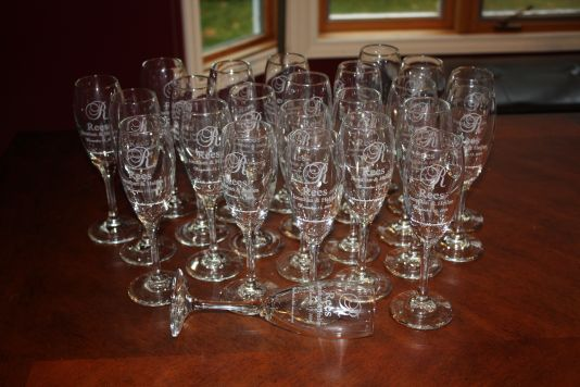 24 wedding flutes