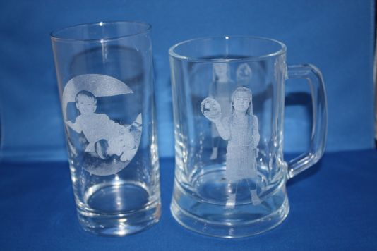 Photo engraved glassware