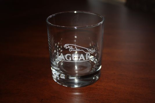 Jaguar whisky glass