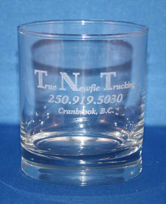 TNT whisky glass